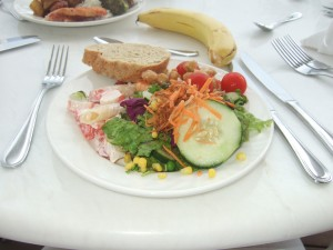 Yummy salad from the buffet... and I didn't have to chop anything!