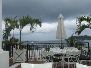 View during lunch... It was a little cloudy, but still beautiful!