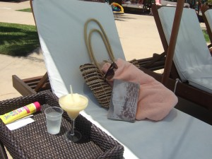 By the pool at Club Med in Ixtapa