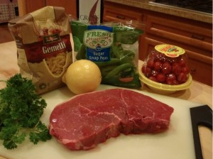Beef Lemon Gemelli pasta ingredients