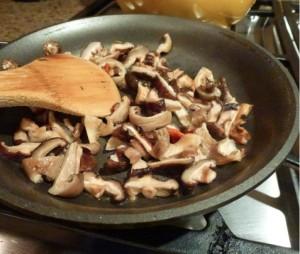 beef kabobs mushroom saute