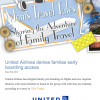 United no longer offers pre-boarding for families
