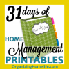 31 days of free home management printables