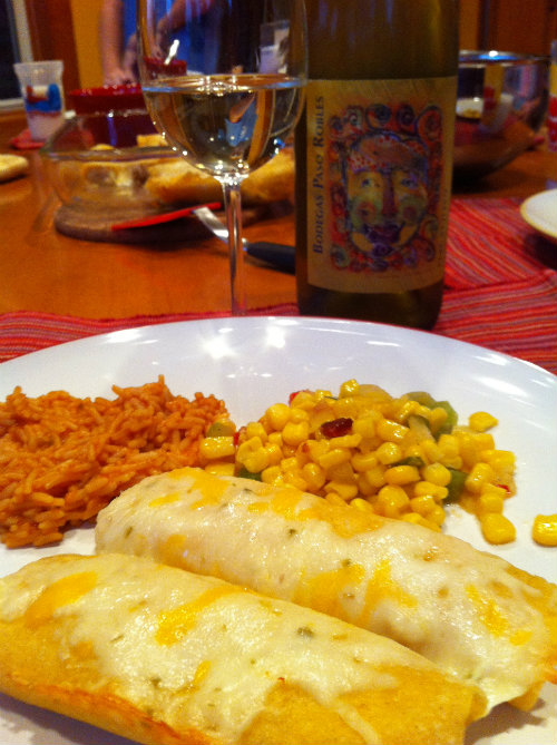 Creamy Chicken Enchiladas - Mom's Toolbox