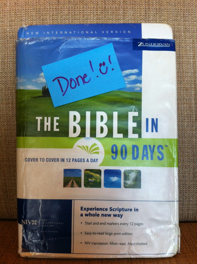 Bible in 90 Days Finishers
