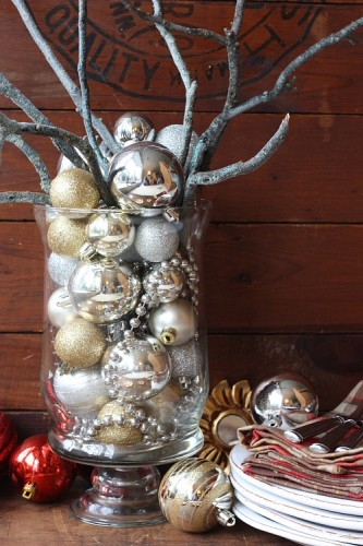Diy christmas decor dining table