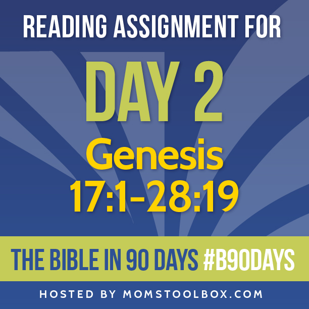 Bible in 90 Days Reading Assignment: Day 2 | MomsToolbox.com