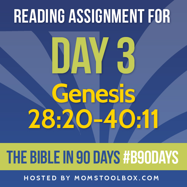 Bible in 90 Days Reading Assignment: Day 3 | MomsToolbox.com