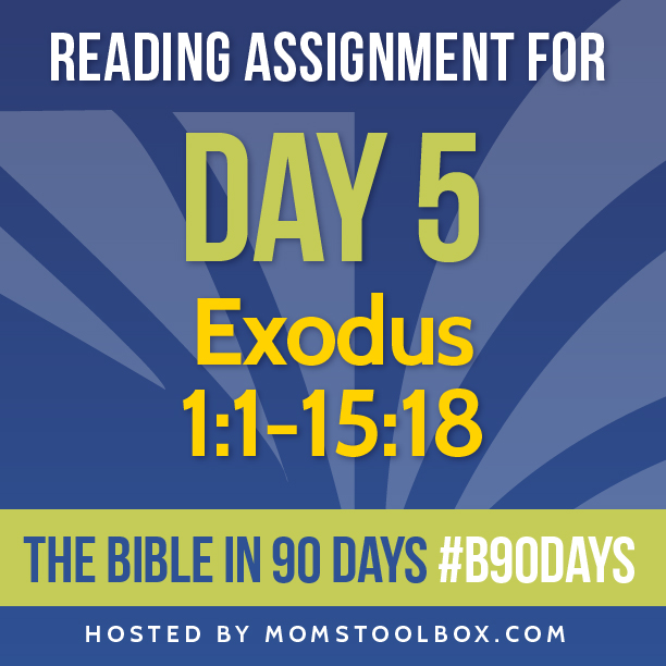 Bible in 90 Days Reading Assignment: Day 5 | MomsToolbox.com