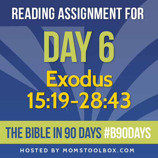 Bible in 90 Days Reading Assignment: Day 6 | MomsToolbox.com