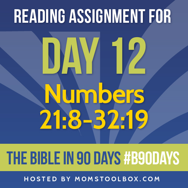 Bible in 90 Days Reading Assignment: Day 12 | MomsToolbox.com