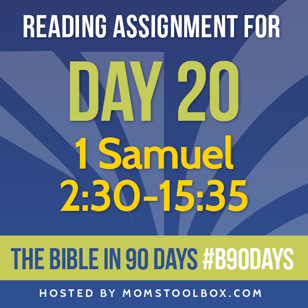 Bible in 90 Days Reading Assignment: Day 20 | MomsToolbox.com