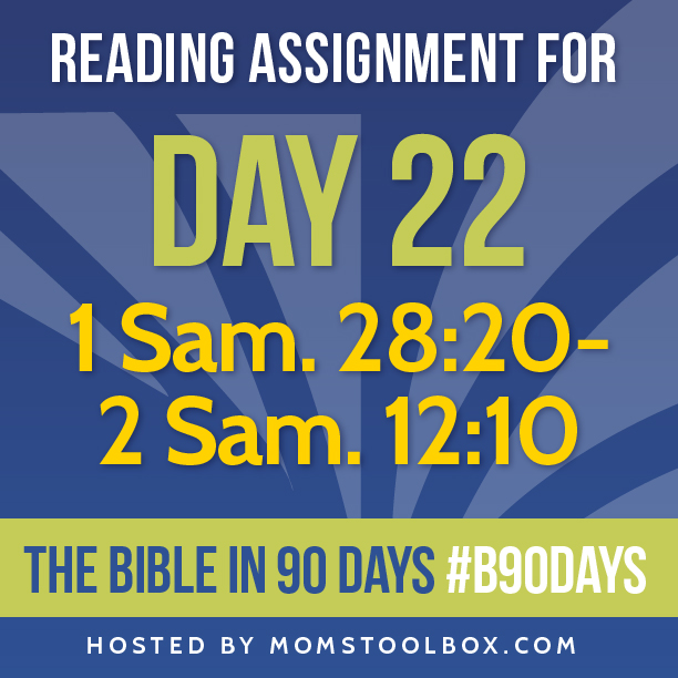 Bible in 90 Days Reading Assignment: Day 22 | MomsToolbox.com