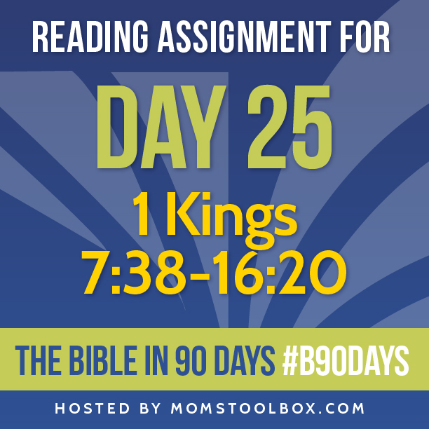 Bible in 90 Days Reading Assignment: Day 25 | MomsToolbox.com
