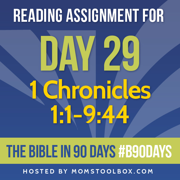 Bible in 90 Days Reading Assignment: Day 29 | MomsToolbox.com