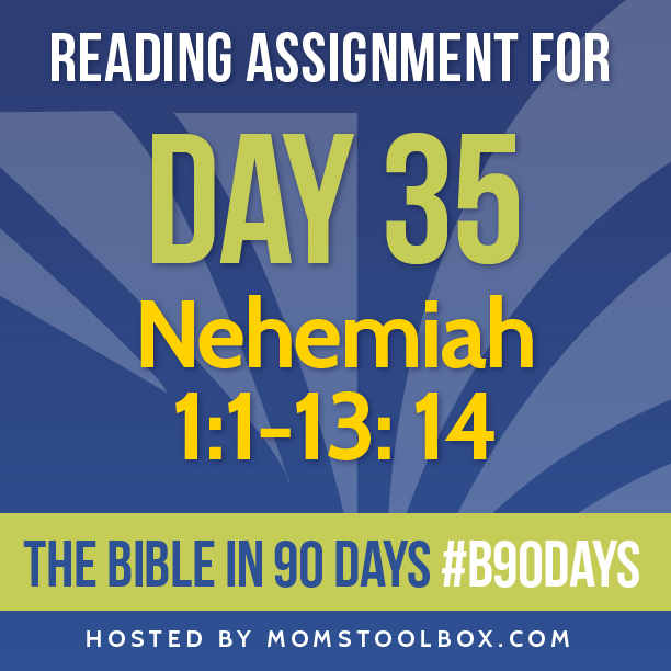 Bible in 90 Days Reading Assignment: Day 35 | MomsToolbox.com