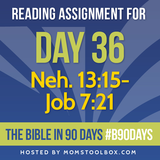 Bible in 90 Days Reading Assignment: Day 36 | MomsToolbox.com