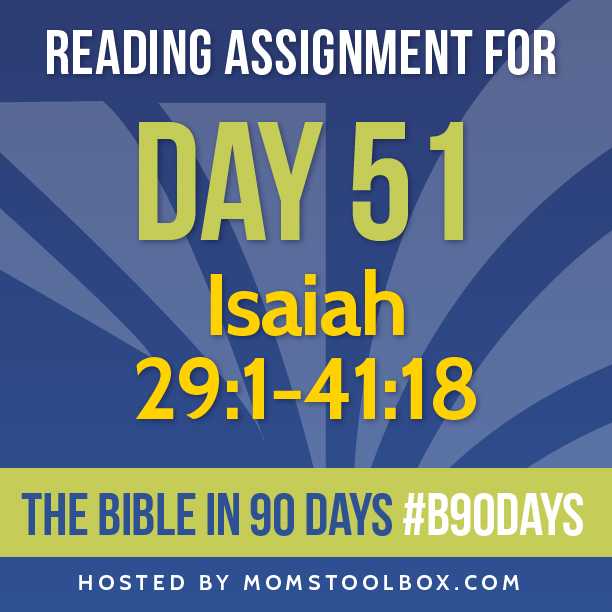 Bible in 90 Days Reading Assignment: Day 51 | MomsToolbox.com