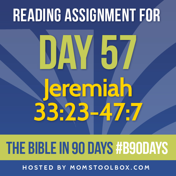 Bible in 90 Days Reading Assignment: Day 57 | MomsToolbox.com