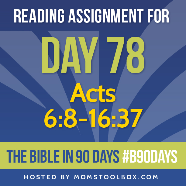 Bible in 90 Days Reading Assignment: Day 78 | MomsToolbox.com