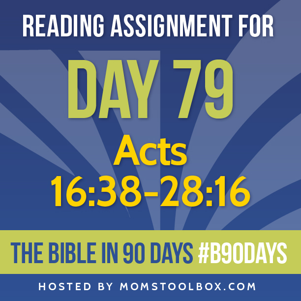 Bible in 90 Days Reading Assignment: Day 79 | MomsToolbox.com