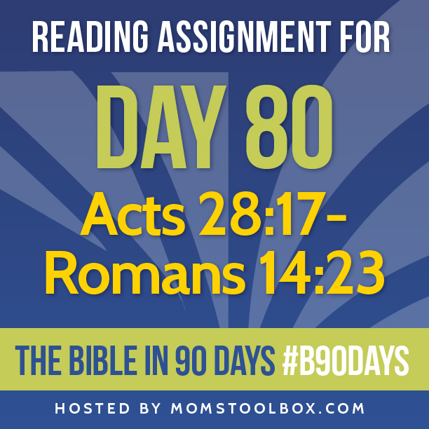 Bible in 90 Days Reading Assignment: Day 80 | MomsToolbox.com