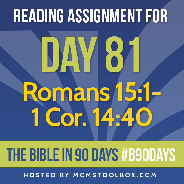Bible in 90 Days Reading Assignment: Day 81 | MomsToolbox.com