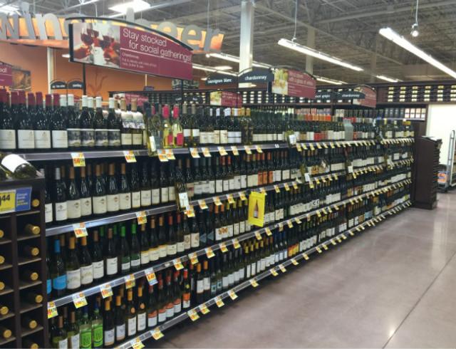 Kroger wine aisle