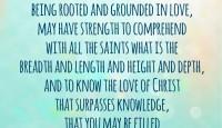 A prayer for the fullness of God:  Ephesians 3:17-19