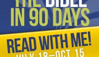 Bible in 90 Days: Week 1 (July-October 2016 Read-through) #B90Days