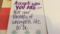 Accept who you are…
