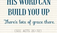 SOAP: His grace can build you up