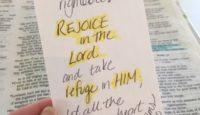 SOAP- Rejoice, take refuge, praise