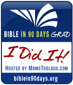 Day 90-- of the Bible in 90 days :)